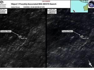 Images of possible debris from missing flight MH370
