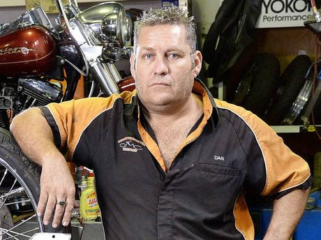 FED UP: Custom Motorcycle Company owner Dan Buechse says the Government's anti-bikie laws are killing his business.