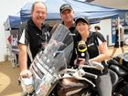 Supporting Black Dog Ride in Maryborough are Michael Young, Brett and Michelle Lewis.