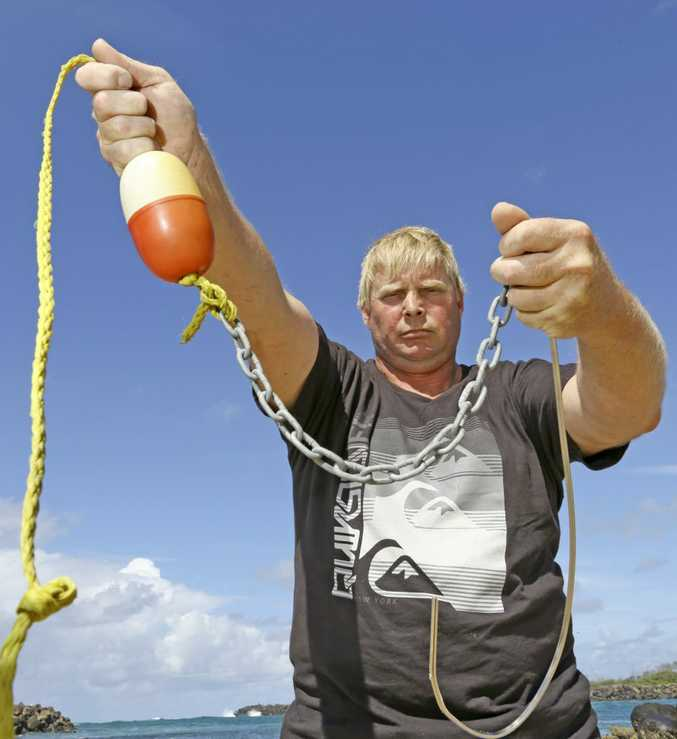 Save Our Sharks activist Andrew Archer wants an alternative to drum line baits.