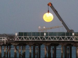 Reader over the moon with Urangan Pier crane shot