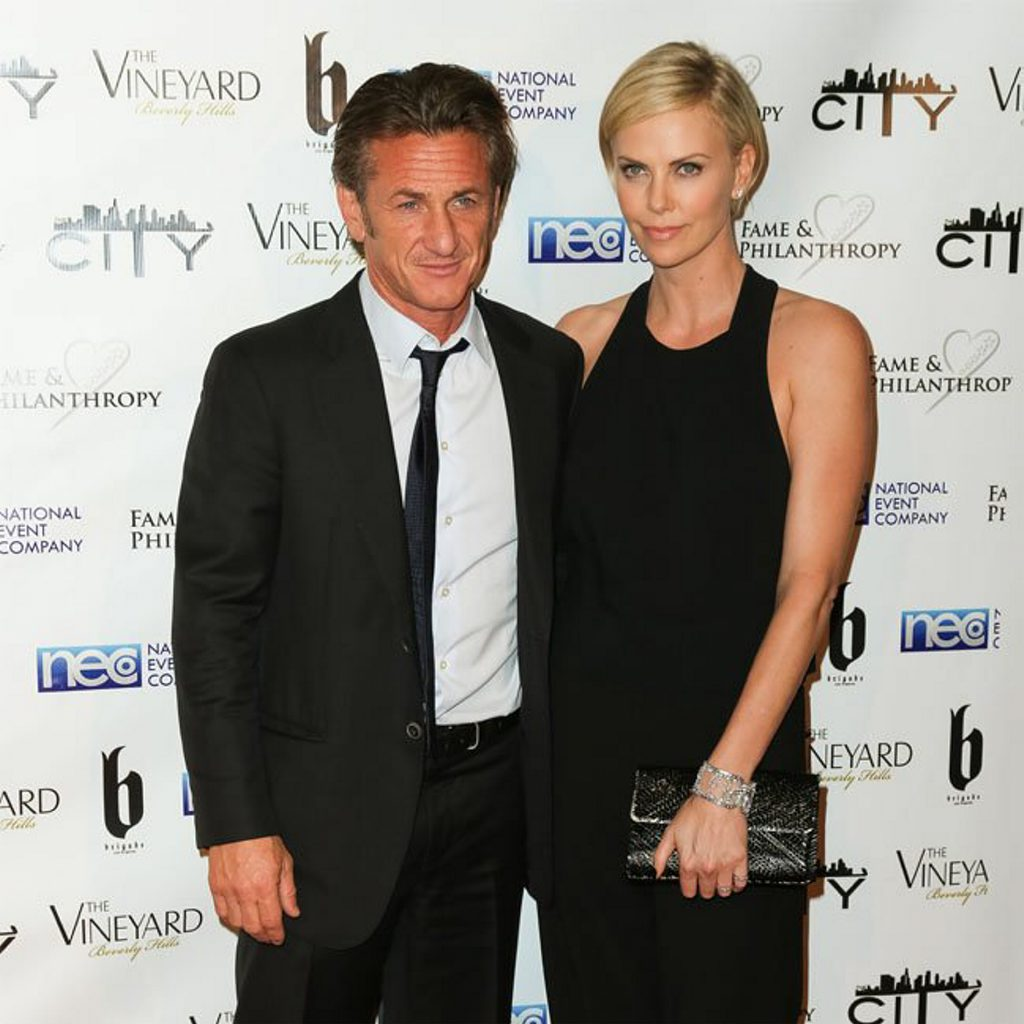 Sean Penn with new girfriend Charlize Theron.