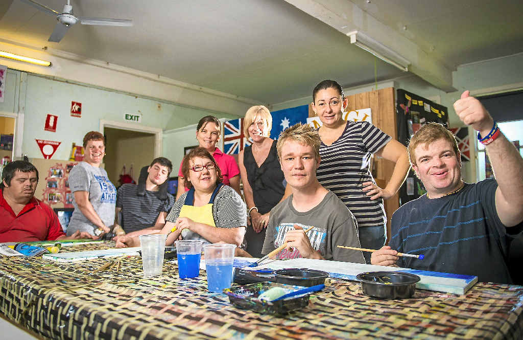 Staff and members at the Cerebral Palsy League Gladstone hope to gain volunteers to teach the clients valuable skills such as music, arts or woodworking.