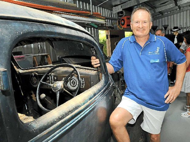 Noel St.John- Wood shows off his vast automotive collection.