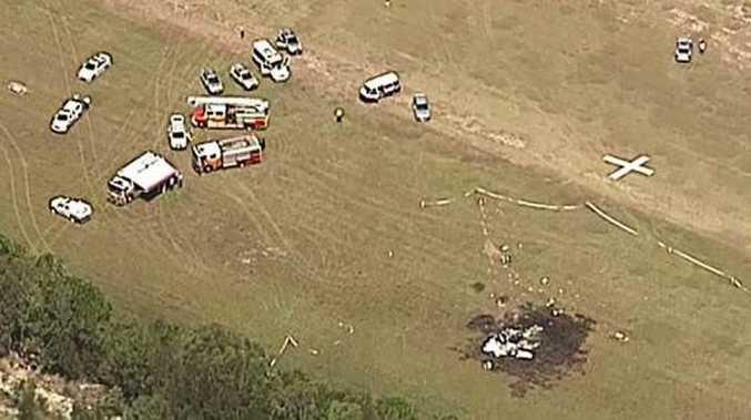 Light plane crash at Caboolture. Photo Channel 9