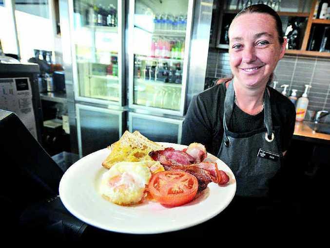 Deb Hempenstall from Tannum Sands Coffee Club says the tradies love their big brekkies.
