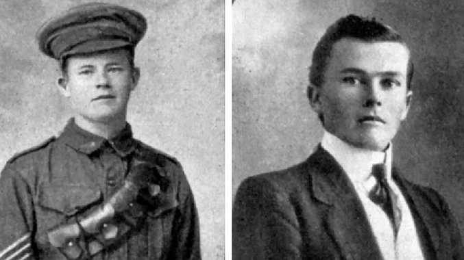 WAR SERVICE: The McNaught brothers.