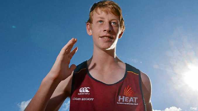 EYE ON THE PRIZE: National junior triple jump champion Logan Bischoff is focused on representing Australia.