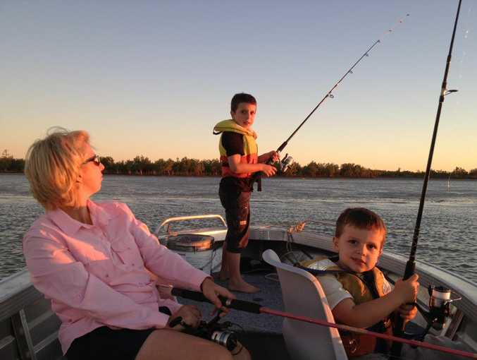 Nicole Dylan and young Cooper Price enjoying the sunset fishing. Photo Contributed