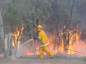 Two Takura properties under threat as bushfires flare up