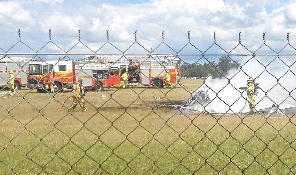 HEARTBREAK: Five people are dead after a light plane crashed at Caboolture Airfield.