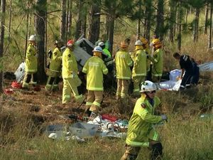 Man dies more than week on from horror Bruce Hwy smash