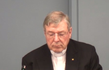 George Pell gives evidence at the Royal Commission.