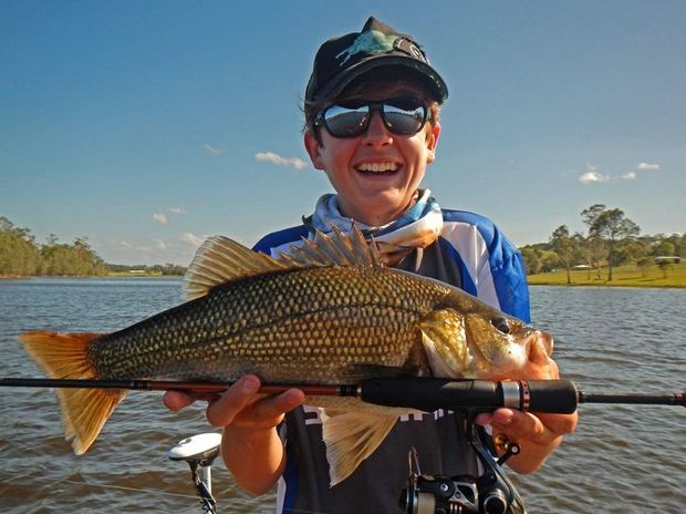 Mitchell Fredericks from Davo's Compleat Angler caught and released this 42cm bass at Lake MacDonald. Photo: Contributed