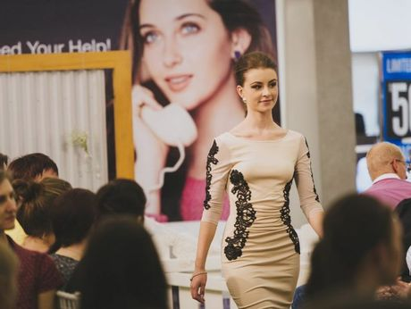 A model showcases Grand Central's autumn/winter fashion range.