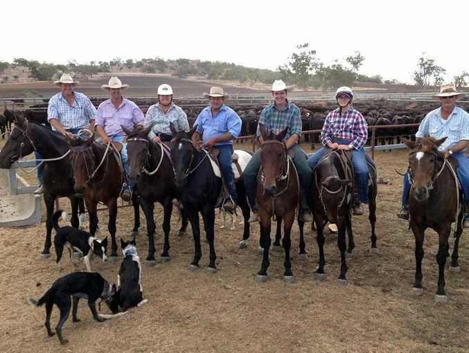 Cattle donors Edwards Livestock and Lake Lillerie Feedlot with some of the helpers involved in walking the cattle back to the feedlot that were used for the Oakey Campdraft Burnett Fahey (also winner of the Novice draft), Matt Edwards, Kerry Shepherd, John Pentecost, Jye Banks, Christine and George Byers.