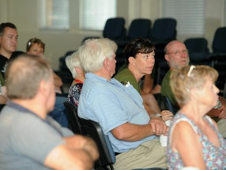 Interested locals asked questions during a talk on koalas by Bill Ellis from the University of Queensland.