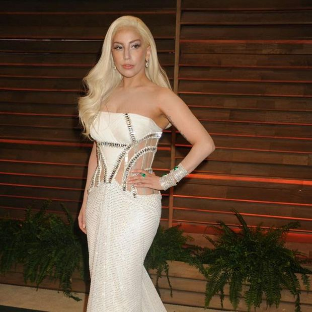 2014 Vanity Fair Oscar Party.  Pictured: Lady Gaga Ref: SPL711945 030314  Picture by: Veronica Summers / Splash News  Splash News and Pictures Los Angeles: 310-821-2666 New York: 212-619-2666 London: 870-934-2666 photodesk@splashnews.com