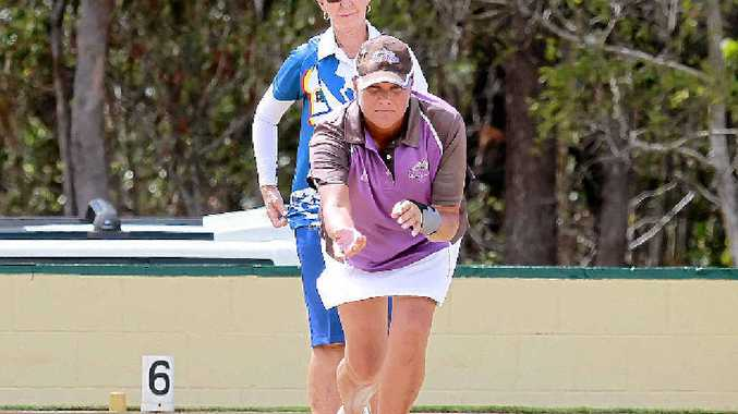 GREEN MACHINE: Lawn bowler Jane Bush from Kawana Thunder has been in sparkling form.