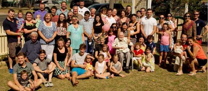 Four generations of the Cooke family came together on Friday to celebrate 90-year-old Lance Cooke's birthday, held at the Warwick home of Mr Cooke's daughter and son-in-law Leanne and Paul Munson.