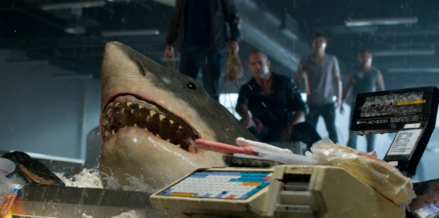 A sequel to the film Bait 3D, pictured, called Deep Water has been shelved over its likeness to the Malaysia Airlines flight disaster.