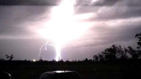An intense lightning storm rolled over Wandoan last night. This image was captured by Tayla Cook and shared to Higgins Storm Chasing's Facebook page.
