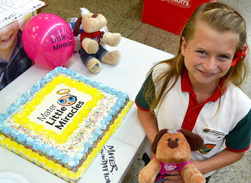 Sophie Chrzanowski is urging people to support the Mater Little Miracles Easter Appeal to help pre-term babies by purchasing Miracle Max toys.