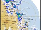 A radar image from the Bureau of Meteorology showing where the rain is falling around the region