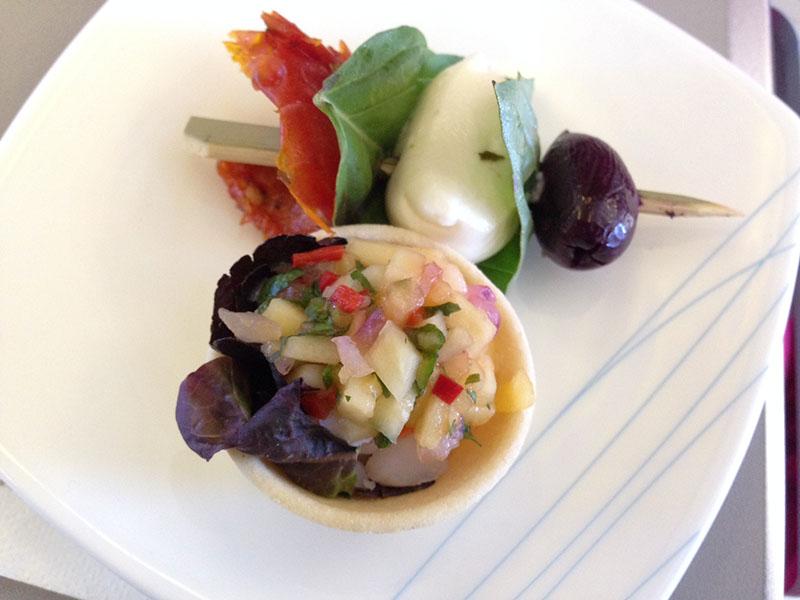 Delicious appetiser, Garuda Business Class