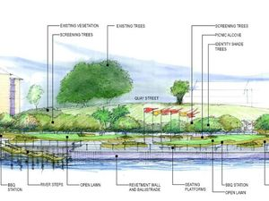 Parkland transformation for damaged riverside