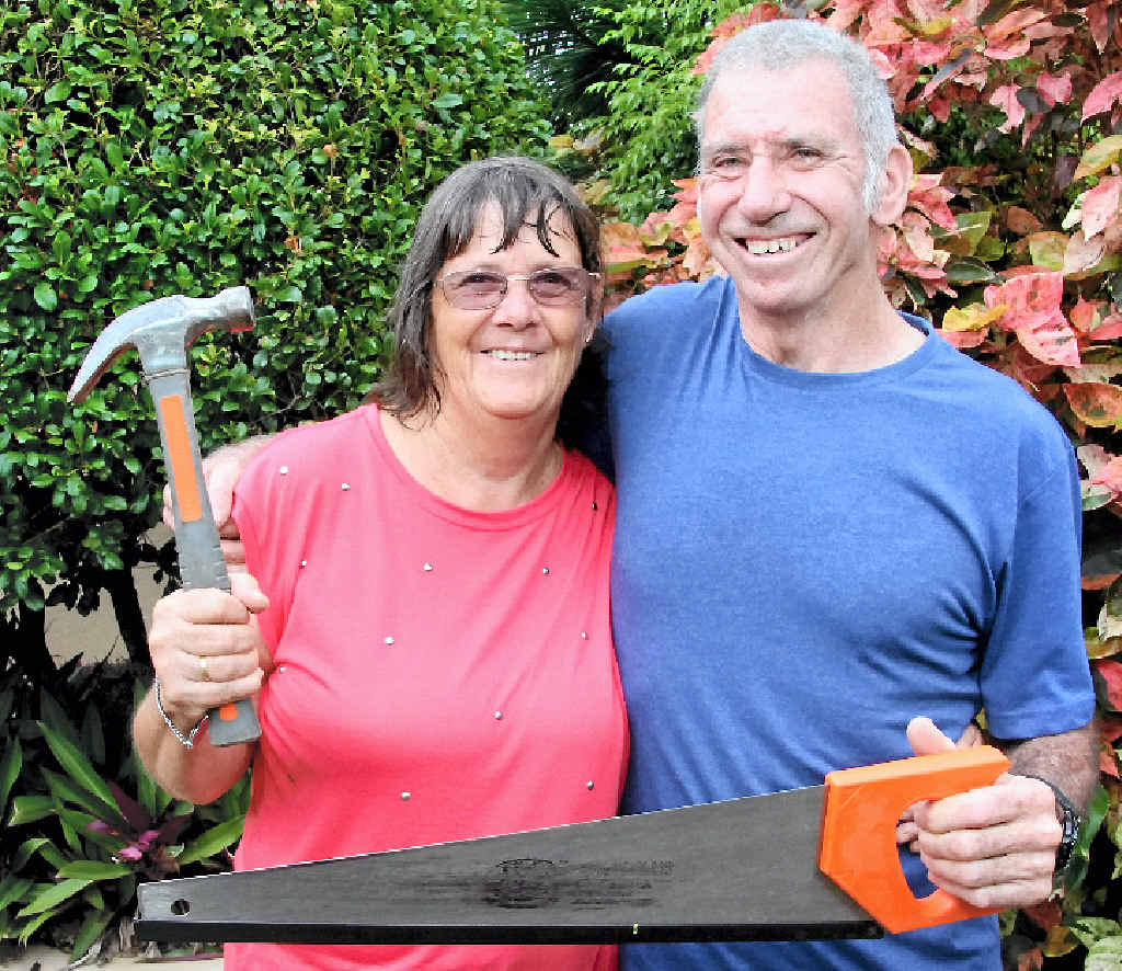 JOB COMPLETE: Anne and Mick Fox are saying goodbye to Bundaberg after helping rebuild the community over the past few months.