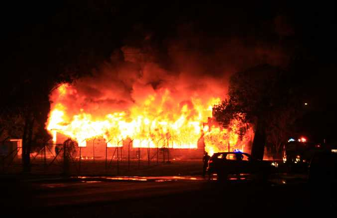 Fire has destroyed a Yuleba house overnight