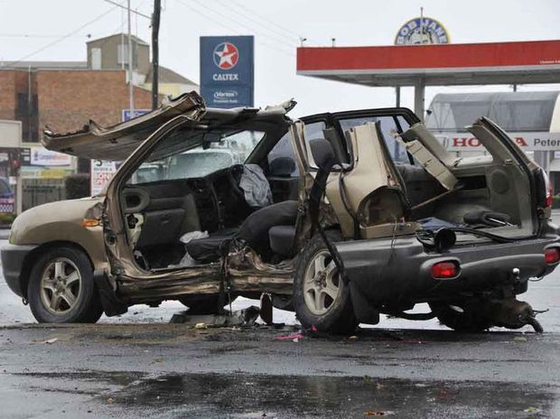 A man has been killed after a two-vehicle crash at the intersection of James and Ruthven Sts.