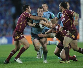 Paul Gallen in action during this year's State of Origin.