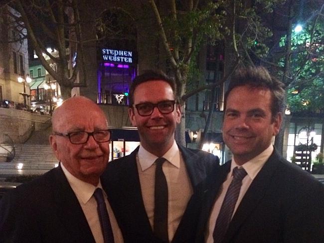 Rupert, James and Lachlan Murdoch Photo: Rupert Murdoch / tumblr