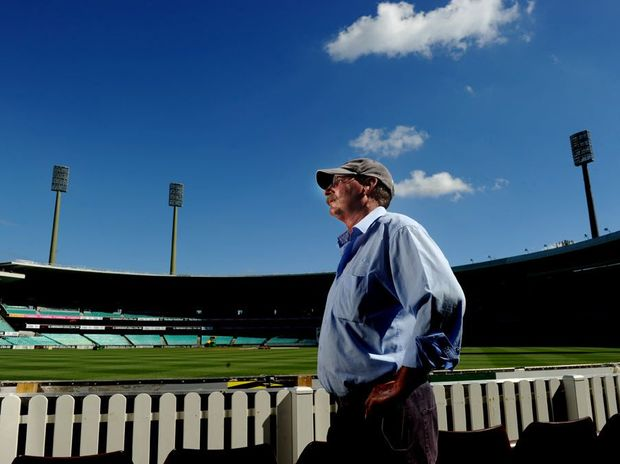 SCG curator Tom Parker poses for photographs in front of the members stand in Sydney. Tom Parker is only the eighth in an illustrious list dating back to 1867. They are practitioners of the art of cricket pitch curation.