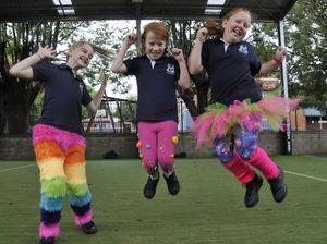 Kids embrace crazy pants day