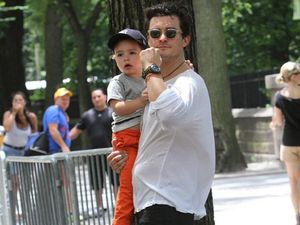 Orlando Bloom says his son is his top priority