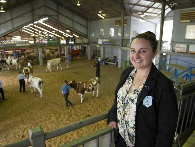Dairy cattle judge Juleesa Smith is judging her first royal show, aged just 19.
