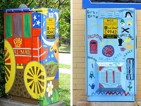 Art enthusiast Gilbert Burgh says traffic signal boxes provide the perfect canvas for artists to express their creative talent and turn the city into a brighter place.