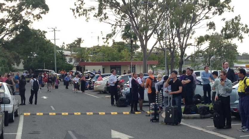 People were evacuated form the Gladstone Airport terminal due to a bomb scare.