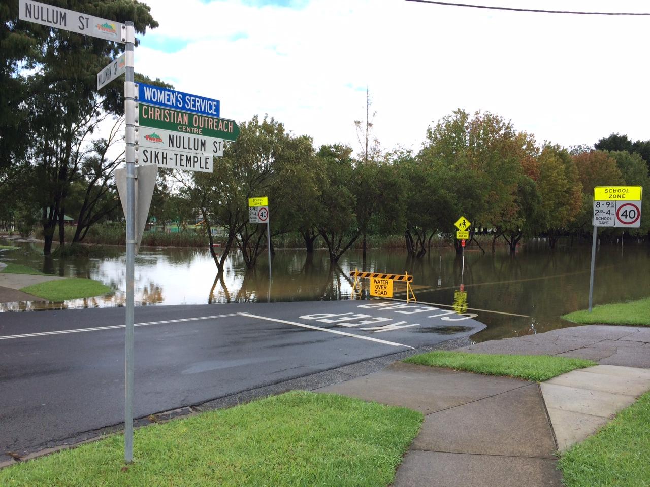 Nullum St, Murwillumbah, has been closed due to heavy rains overnight.