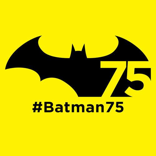 The logo for Batman's 75th anniversary.