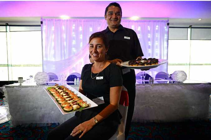 COCKTAIL HOUR: Alan and Julie Davis from In Good Taste Catering at The Ballina Bridal Expo.