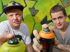 GRAFFITI artists have raised their cans, taken aim and put on a colourful show for a Caloundra audience.