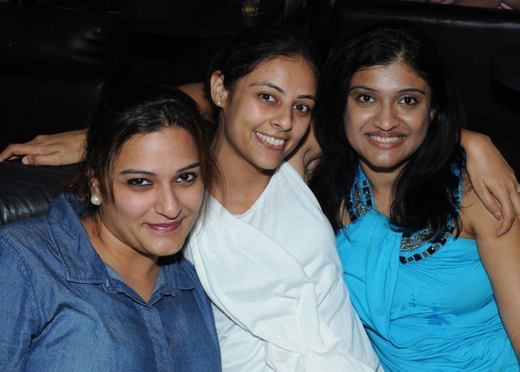 AM BAR: Padma Gadiyar, Chitra Chopra and Sulekha Iyer  Photo