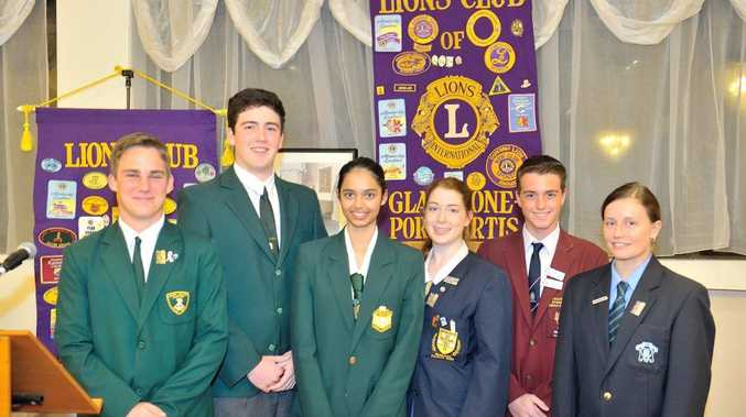 Lions young leaders competing in the district level Lions Youth of the Year quest Alexandra Sequeira, 17, Ellen Lynch,16, Michael Effeney, 16, Kane Langdon, 17, Braydon Poacher, 16 and Kate McCormack, 18.