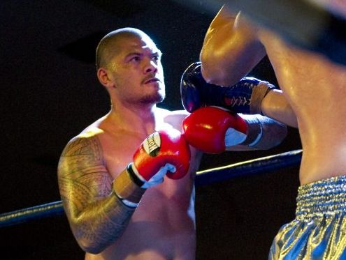 FIGHT FOES: Team Ngapuhi's Justin Milo (left) in action against Jacob Francis.