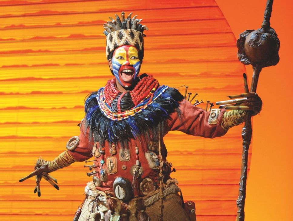 Buyi Zama as Rafiki in a scene from The Lion King.