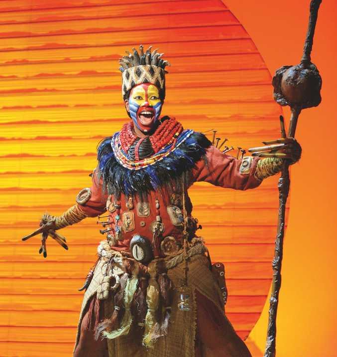 Buyi Zama as Rafiki in a scene from The Lion King.